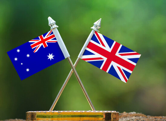 Australia UK Flags CANZUK